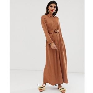 ASOS Textured Maxi Shirt Dress
